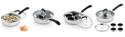 Cook N Home 4 Cup Stainless Steel Egg Poacher Pan with Lid, Model 02625