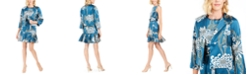Natori Chrysanthemum Jacket & Shift Dress