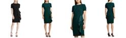 Lauren Ralph Lauren Petite Satin-Ruffle Jersey Dress