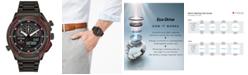 Citizen Eco-Drive Men's Analog-Digital Chronograph Promaster SST Black Stainless Steel Bracelet Watch 46mm