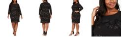 Jessica Howard Plus Size Sparkle Floral Dress