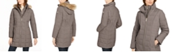 Michael Kors Hooded Faux-Fur-Trim Down Puffer Coat, Created for Macy's