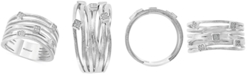 EFFY Collection EFFY® Diamond Multi-Row Statement Ring (1/20 ct. t.w.) in Sterling Silver