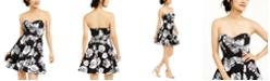 B Darlin Juniors' Allover-Floral Dress
