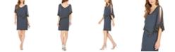 J Kara Embellished Capelet Dress