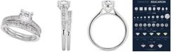 Macy's  Certified Diamond Bridal Set (1-1/2 ct. t.w.) in 14k White Gold