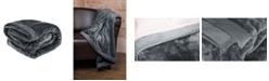 Elle Decor Silky Soft Plush Blanket with Corduroy Trim, King