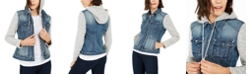 INC International Concepts INC Knit & Denim Hoodie Jacket, Created for Macy's