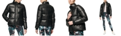 Marc New York Faux-Leather Puffer Coat