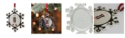 """Northlight 3.5"""" Silver Plated SnowflakeToostie Roll Man Candy Logo Christmas Ornament with European Crystals"""