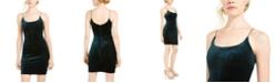 Sequin Hearts Juniors' Glitter Velvet Slip Dress