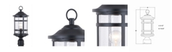 Vaxcel Southport Rust Proof Outdoor Post Light with Clear Glass