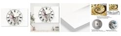 "Designart Watercolour Nude 1 Oversized Traditional 3 Panels Wall Clock - 38"" x 38"" x 1"""