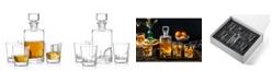 JoyJolt Carina Whiskey Decanter Set of 5
