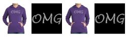 LA Pop Art Women's Word Art Hooded Sweatshirt -Omg