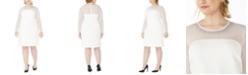 Calvin Klein Plus Size Illusion-Detail Sheath Dress