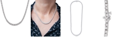 """Wrapped in Love Diamond Link (1/2 c.t. t.w.) 17"""" Statement Necklace in Sterling Silver, Created for Macy's"""