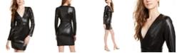 bebe Snake-Embossed Faux-Leather Dress