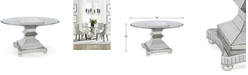 """Furniture Moiselle 54"""" Glass Top Round Dining Table"""