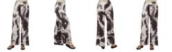 24seven Comfort Apparel Women Comfortable Brown Palazzo Pants