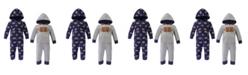 Hudson Baby Boy Fleece Union Suits 2 Pack