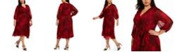 Calvin Klein Plus Size Printed Faux-Wrap Dress