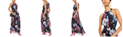 INC International Concepts INC Floral-Print Halter Maxi Dress, Created for Macy's