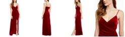 Emerald Sundae Juniors' Velvet Slip Dress