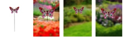 Creative Motion Painted Butterfly Metal Garden Stakes