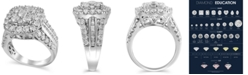 Macy's Certified Diamond (3 ct.t.w.) Engagment Ring in 14k White Gold