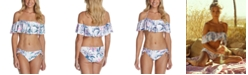 Raisins Juniors' Ruffled Bikini Top & Side-Tie Bottoms