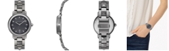 Rebecca Minkoff Women's BFFL Silver-Tone Ceramic Bracelet Watch 36mm