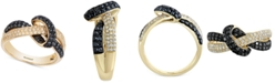 EFFY Collection EFFY® Multi-Color Diamond Twist Statement Ring (3/4 ct. t.w.) in 14k Gold