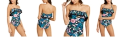 Tommy Hilfiger Ruffle Strapless One-Piece Swimsuit
