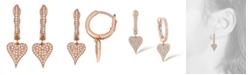 Serena Williams Jewelry Diamond (1/5 ct. t.w.) Heart Earrings in 14K Rose Gold