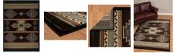 "Asbury Looms Designer Contours Cem Native Canvas 511 25266 69 Brown 5'3"" x 7'6"" Area Rug"