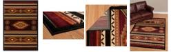 """Asbury Looms Designer Contours Cem Soaring Diamond 511 25929 69 Terracotta 5'3"""" x 7'6"""" Area Rug"""