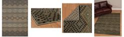 """Asbury Looms Designer Contours Cem Sedona Diamond 511 29960 28C Blue 2'7"""" x 7'4"""" Runner Rug"""