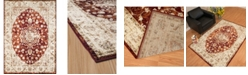 """Asbury Looms Bridges Ponte Vecchio 3001 00436 912 Crimson 7'10"""" x 10'6"""" Area Rug"""
