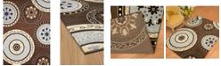 """Asbury Looms Cafe Cozy 950 11050 28 Brown 1'11"""" x 7'2"""" Runner Rug"""