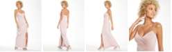 Eliza J V-Neck Glitter Gown