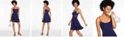 B Darlin Juniors' Mesh-Inset Flounce Fit & Flare Dress