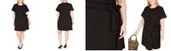 Michael Kors Plus Size Faux-Wrap T-Shirt Dress