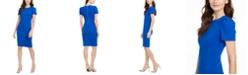 Calvin Klein Petite Short-Sleeve Sheath Dress
