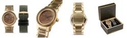 Original Grain Men Gold-Tone Stainless Steel Bracelet Watch, 42mm