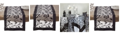 Saro Lifestyle Flocked French Scroll Table Runner