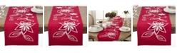 Saro Lifestyle Holiday Poinsettia Table Runner