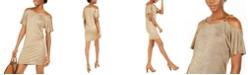 Michael Kors Metallic Cold-Shoulder Dress, Regular &  Petite