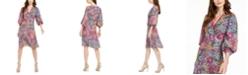 Calvin Klein Mosaic-Print A-Line Dress