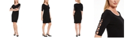 JM Collection Petite Loop-Trim Dress, Created for Macy's
